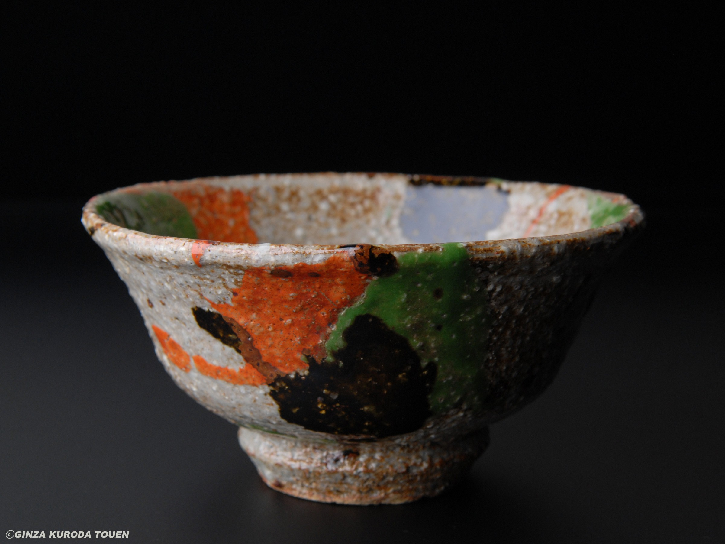 Kanjiro Kawai: Tea bowl, Three-colored
