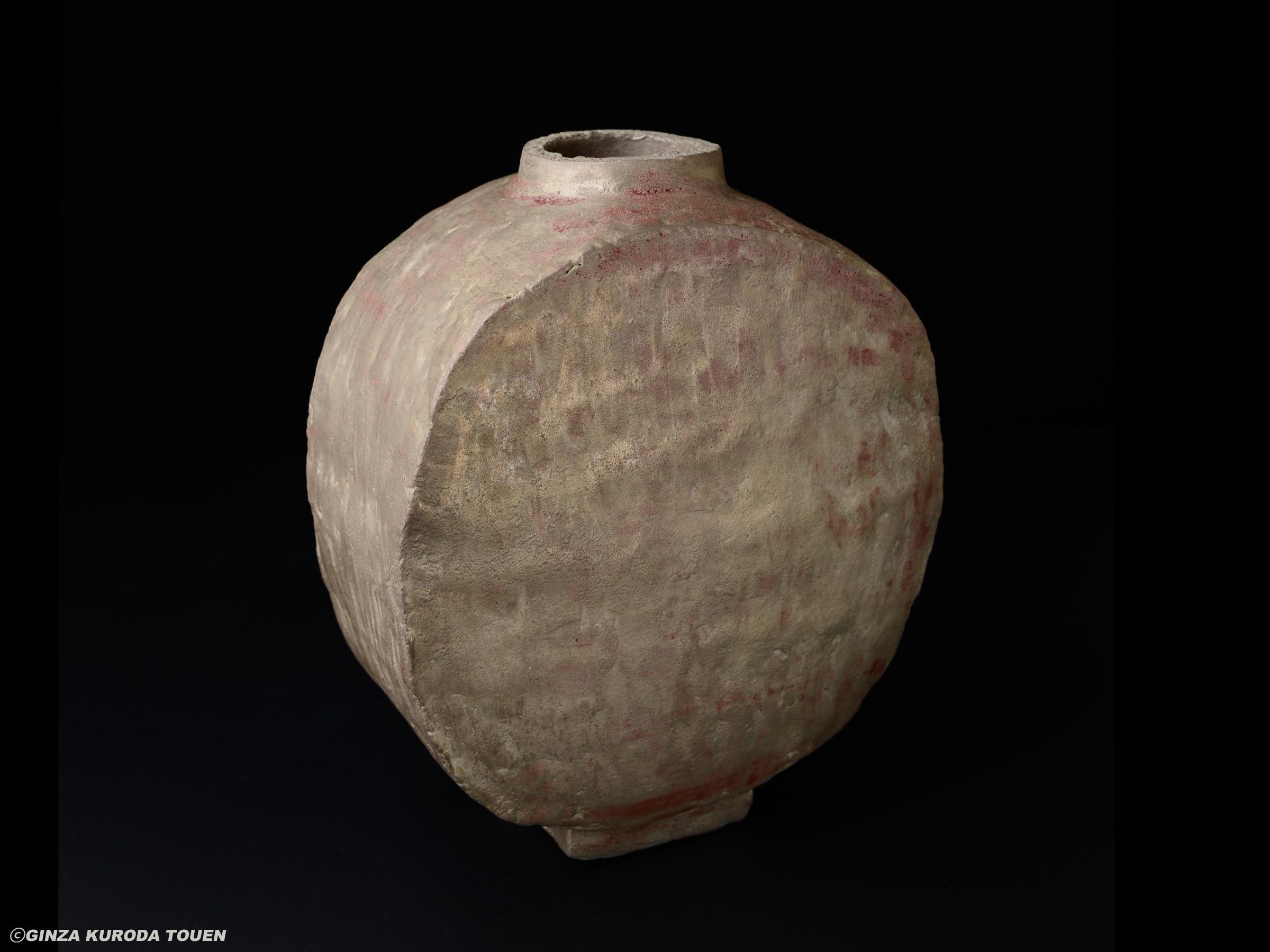 Shoji Kamoda: Flat vase, Silver type
