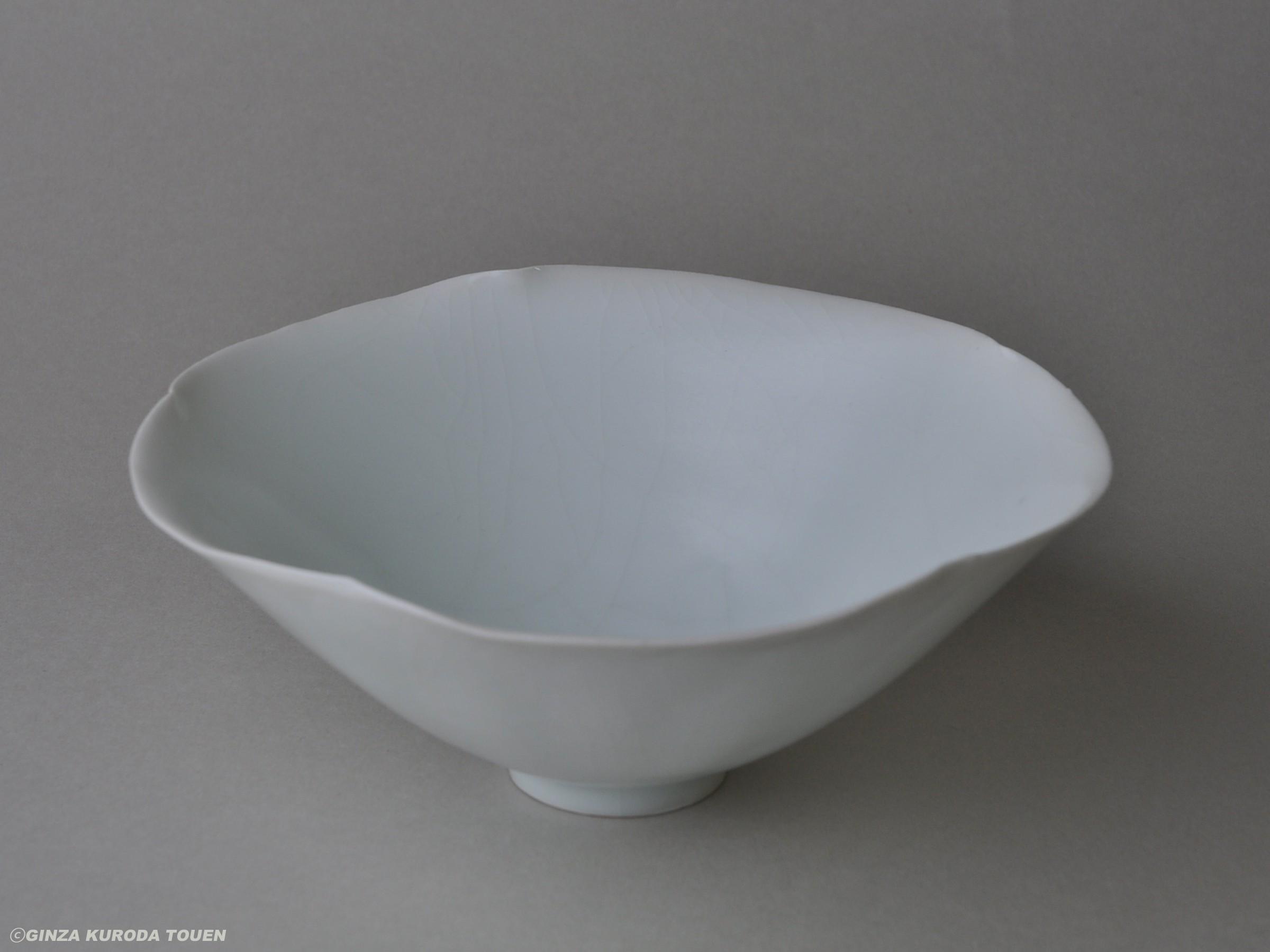 Kaiji Tsukamoto: Bowl, White porcelain