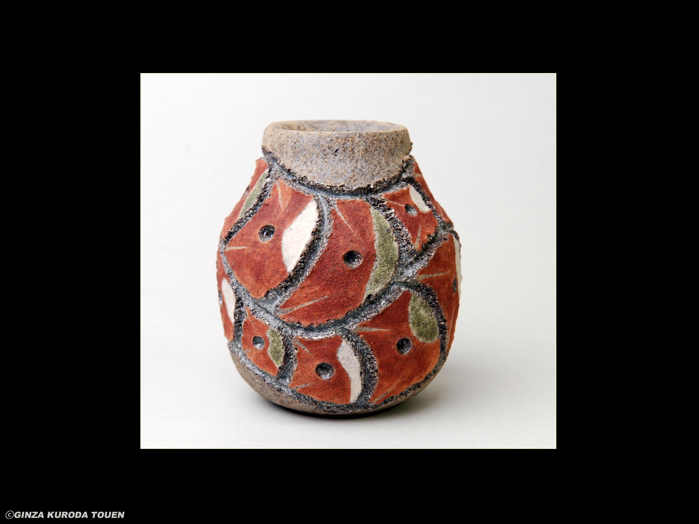 Shoji Kamoda: Small jar, Saishoku type