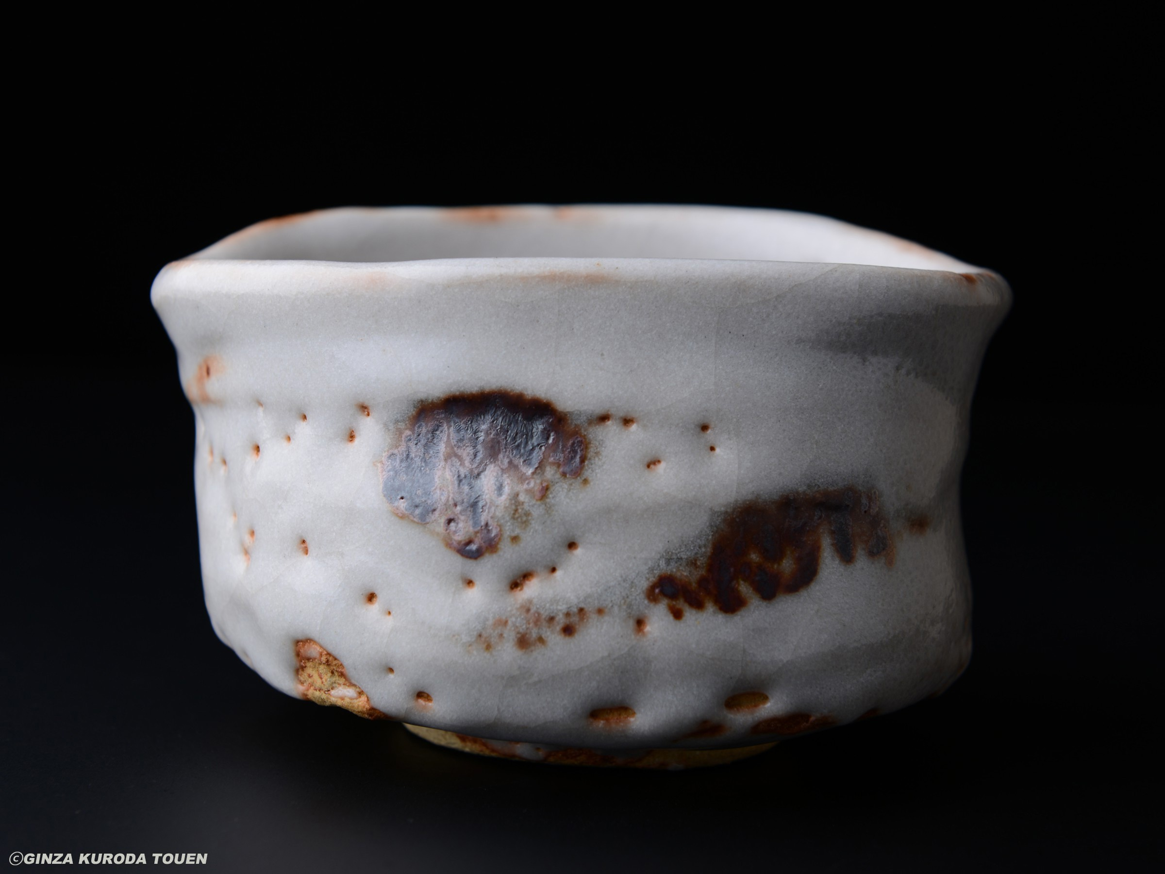 Tokuro Kato: Tea bowl, Shino type