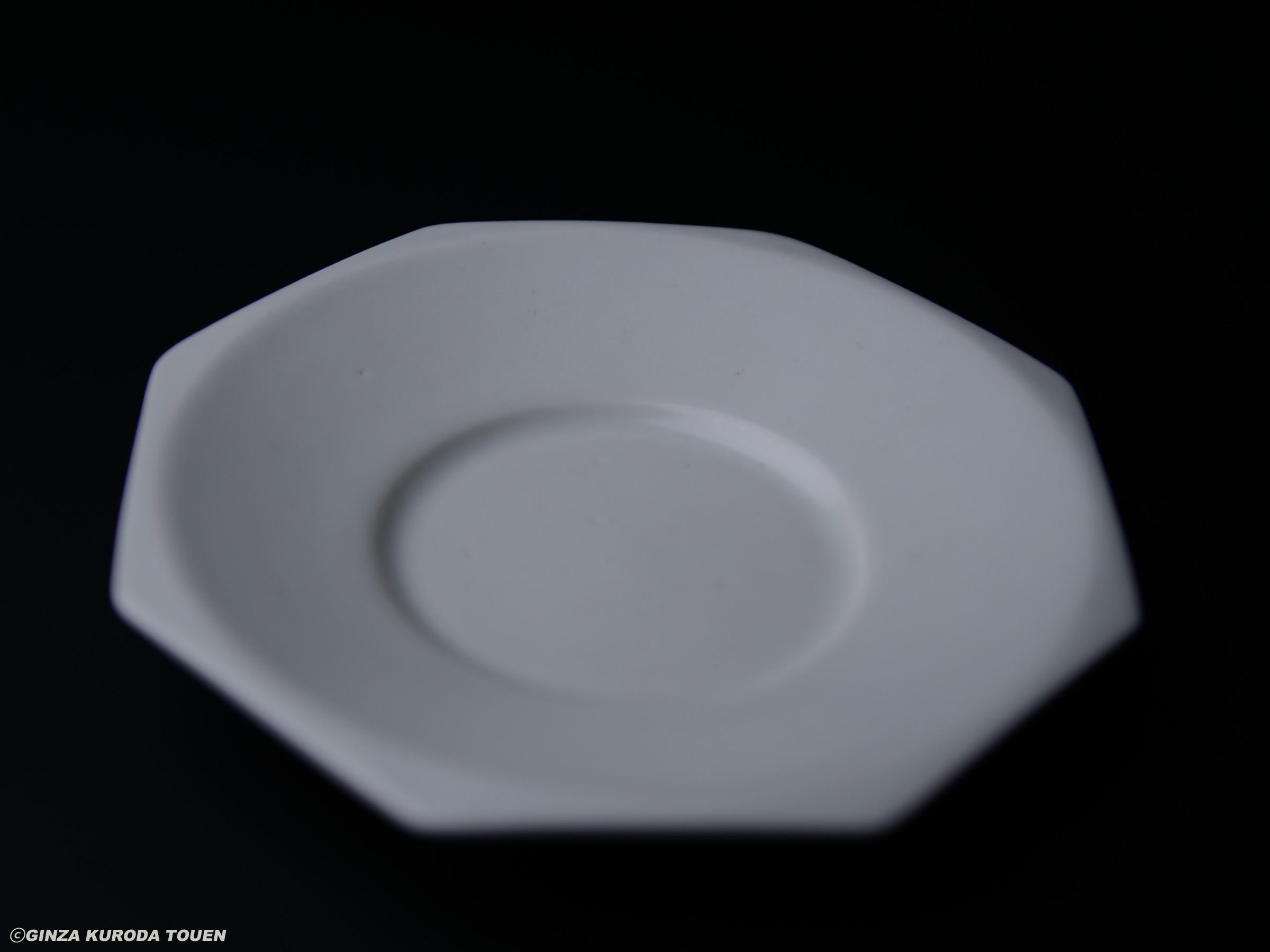富本憲吉 白磁八角皿