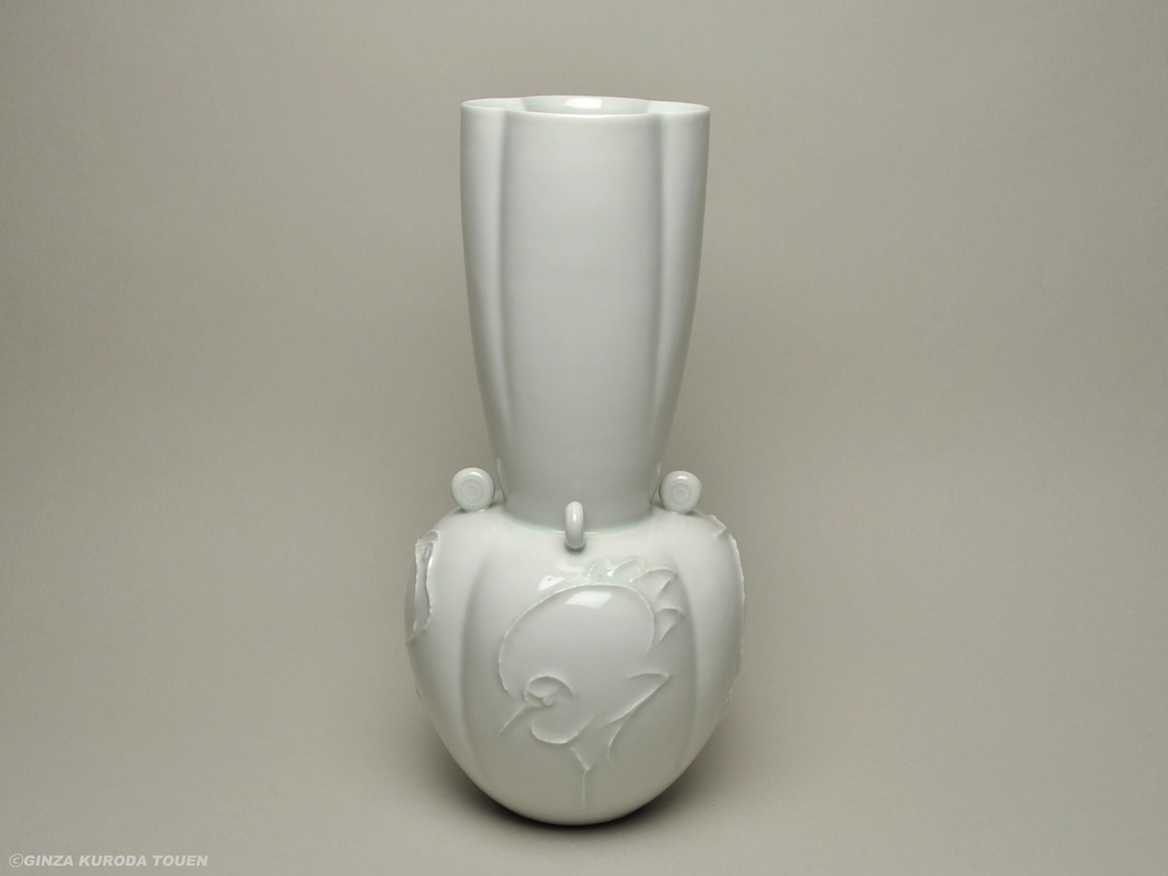 楠部彌弌 白磁四方花瓶