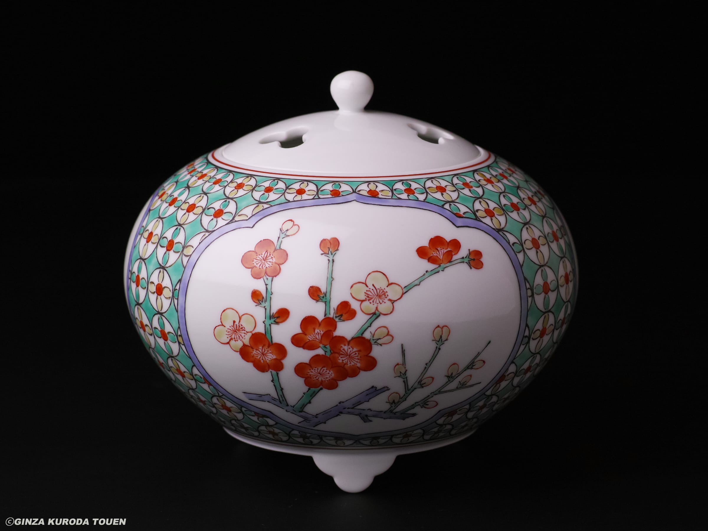 Kakiemon Sakaida xiv: Incense burner, Nigoshide type,