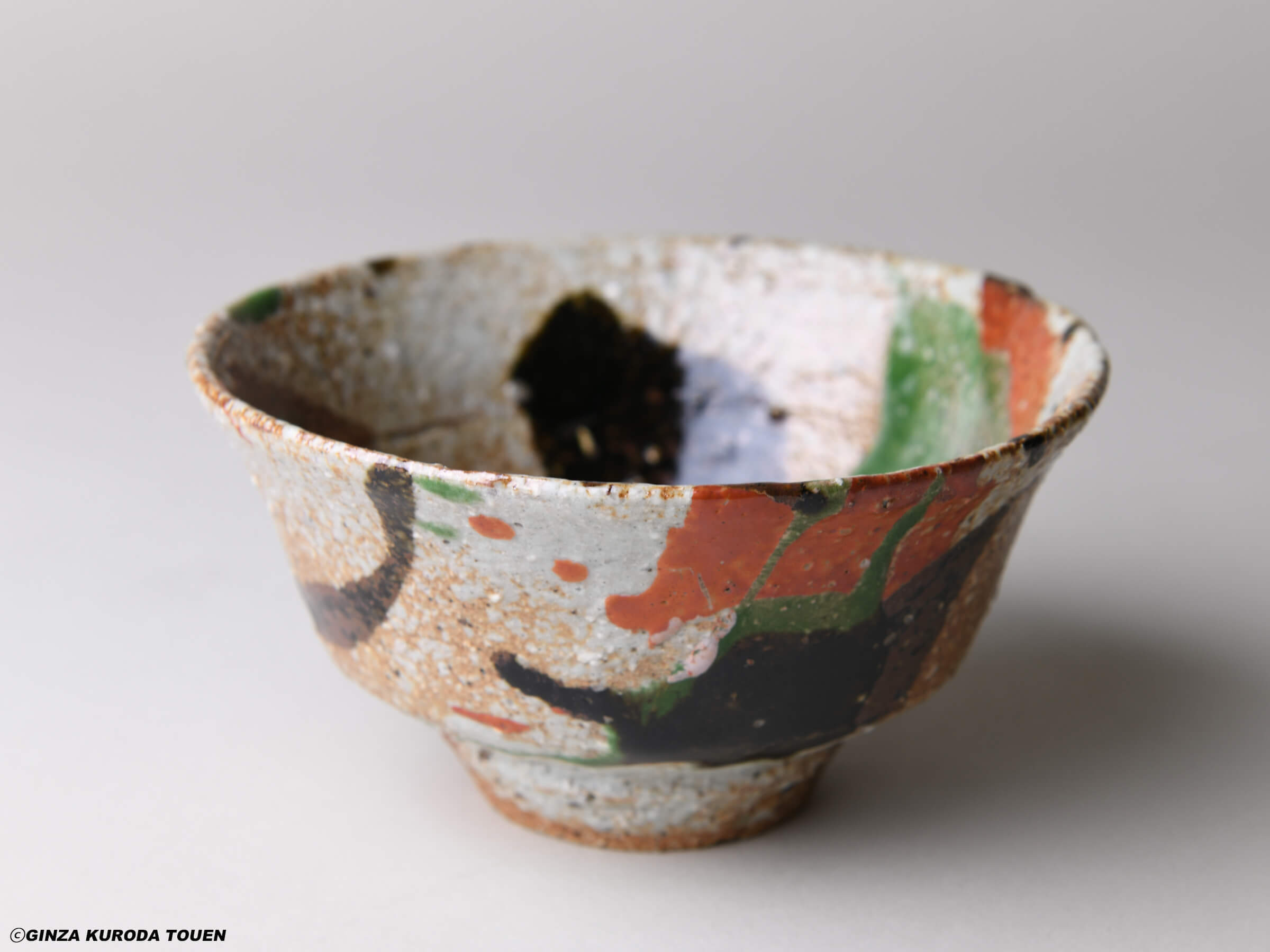 Kanjiro Kawai : Tea bowl, Three colored type